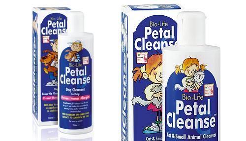 Pomocou prípravkov Petal Cleanse odstránite alergény priamo zo zvieraťa